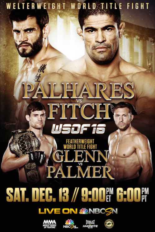 WSOF 16: Palhares vs. Fitch Set For December 13