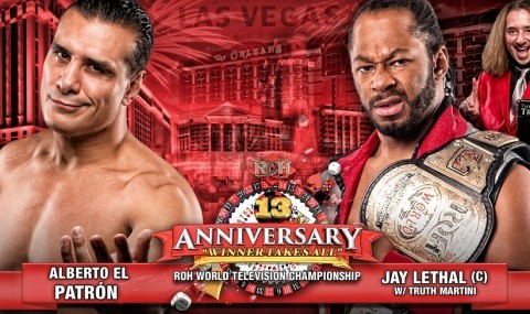 Alberto El Patron takes on Jay Lethal for the ROH TV Title