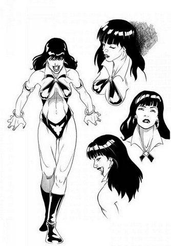 Vampirella sketch from Aliens/Vampirella