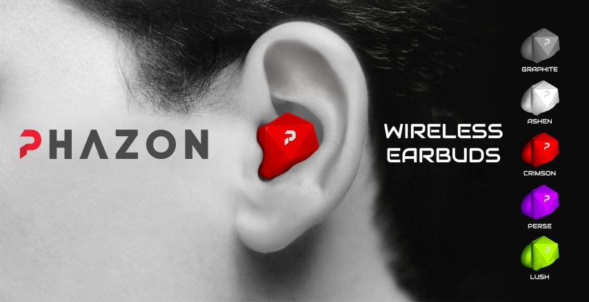 Phazon wireless earbuds waterproof - best noise cancelling earbuds wireless